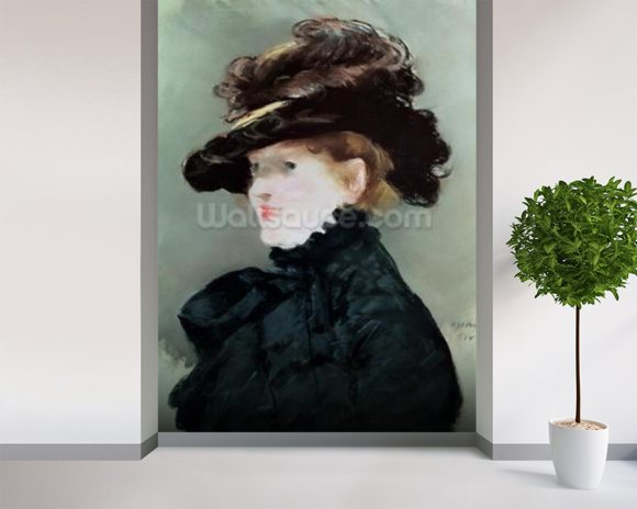 Portrait of Mery Laurent (1849-1900) 1882 (pastel on paper) wall mural room setting