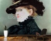Portrait of Mery Laurent (1849-1900) 1882 (pastel on paper) wall mural kitchen preview