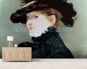 Portrait of Mery Laurent (1849-1900) 1882 (pastel on paper) wall mural living room preview