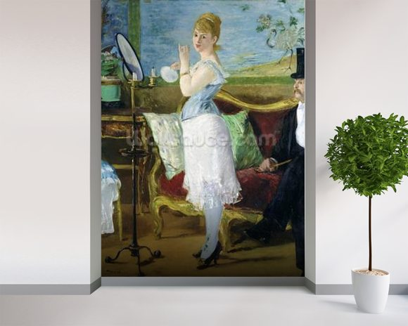 Nana, 1877 (oil on canvas) wall mural room setting