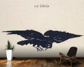 Le Corbeau (The Raven), 1875 (litho) mural wallpaper kitchen preview