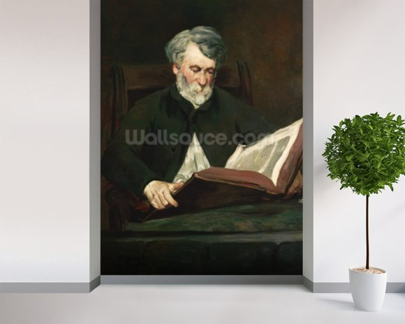The Reader, c.1861 (oil on canvas) wall mural room setting