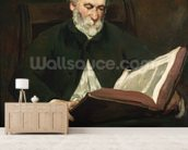 The Reader, c.1861 (oil on canvas) wall mural living room preview