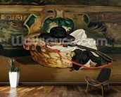 Still Life: Guitar and Sombrero, 1862 (oil on canvas) wall mural kitchen preview