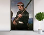Non Commissoned Officer holding his Rifle (oil on canvas) wallpaper mural in-room view