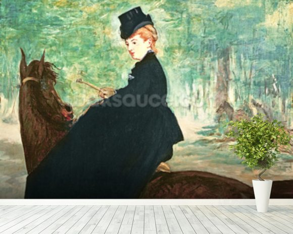 The Horsewoman, 1875 (oil on canvas) wall mural room setting