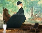 The Horsewoman, 1875 (oil on canvas) wall mural kitchen preview