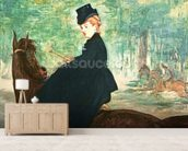 The Horsewoman, 1875 (oil on canvas) wall mural living room preview