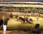 Bull Fight, 1865 (oil on canvas) wallpaper mural kitchen preview