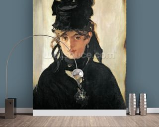 Berthe Morisot with a Bouquet of Violets, 1872 (oil on canvas) wall mural