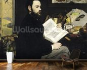Portrait of Emile Zola (1840-1902) 1868 (oil on canvas) wallpaper mural kitchen preview