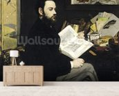 Portrait of Emile Zola (1840-1902) 1868 (oil on canvas) wallpaper mural living room preview