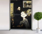 Portrait of Emile Zola (1840-1902) 1868 (oil on canvas) wallpaper mural in-room view