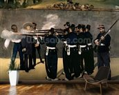 The Execution of the Emperor Maximilian, 1867-8 (oil on canvas) wall mural kitchen preview