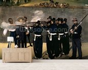 The Execution of the Emperor Maximilian, 1867-8 (oil on canvas) wall mural living room preview