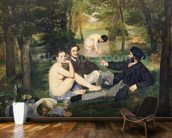 Dejeuner sur lHerbe, 1863 (oil on canvas) (see also 65761) mural wallpaper kitchen preview