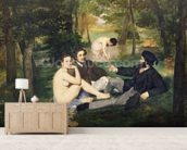 Dejeuner sur lHerbe, 1863 (oil on canvas) (see also 65761) mural wallpaper living room preview
