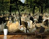 Music in the Tuileries Gardens, 1862 (oil on canvas) wall mural kitchen preview