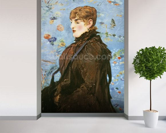 Autumn (Mery Laurent), 1882 (oil on canvas) wall mural room setting