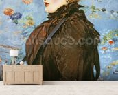 Autumn (Mery Laurent), 1882 (oil on canvas) wall mural living room preview