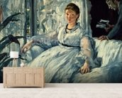 Reading, 1865 (oil on canvas) mural wallpaper living room preview