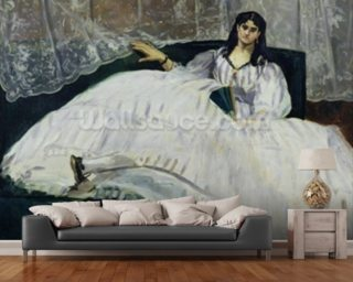 Portrait of Jeanne Duval, 1862 (oil on canvas) wall mural