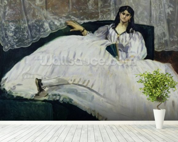 Portrait of Jeanne Duval, 1862 (oil on canvas) wall mural room setting