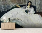 Portrait of Jeanne Duval, 1862 (oil on canvas) wall mural living room preview