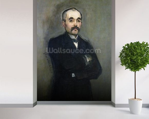 Portrait of Georges Clemenceau (1841-1929) 1879 (oil on canvas) wall mural room setting