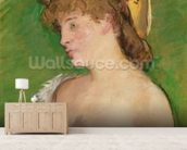 The Blonde with Bare Breasts, 1878 (oil on canvas) wallpaper mural living room preview