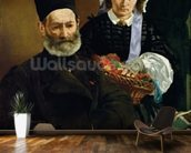 Portrait of Monsieur and Madame Auguste Manet, 1860 (oil on canvas) wall mural kitchen preview