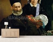 Portrait of Monsieur and Madame Auguste Manet, 1860 (oil on canvas) wall mural living room preview