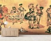 Spanish Dancers, 1862 (w/c, pencil and ink) wallpaper mural living room preview