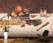 Still Life: Fruit on a Table, 1864 (oil on canvas) mural wallpaper kitchen preview