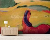 Horse in a landscape, 1910 (oil on canvas) wallpaper mural living room preview
