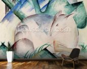 Sleeping Deer (w/c) wallpaper mural kitchen preview