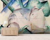 Sleeping Deer (w/c) wallpaper mural living room preview