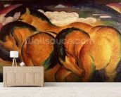 Little Yellow Horses, 1912 (oil on canvas) mural wallpaper living room preview