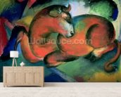 The Red Bull, 1912 (oil on canvas) mural wallpaper living room preview
