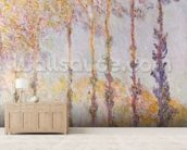 Poplars on the Banks of the Epte, 1891 (oil on canvas) mural wallpaper living room preview