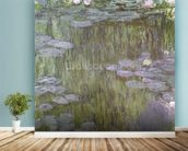 Nympheas at Giverny, 1918 (oil on canvas) wallpaper mural in-room view