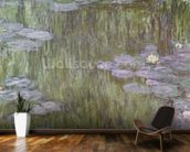 Nympheas at Giverny, 1918 (oil on canvas) wallpaper mural kitchen preview