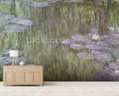 Nympheas at Giverny, 1918 (oil on canvas) wallpaper mural living room preview