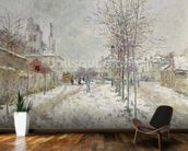 Snow Effect (oil on canvas) mural wallpaper kitchen preview
