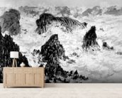 The Rocks of Belle-Ile, 1886 (oil on canvas) (b/w photo) wallpaper mural living room preview