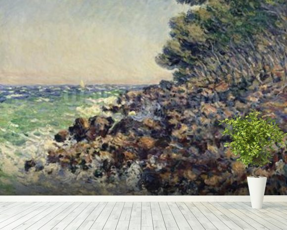 Cap Martin, 1884 (oil on canvas) mural wallpaper room setting