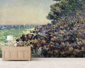 Cap Martin, 1884 (oil on canvas) mural wallpaper living room preview