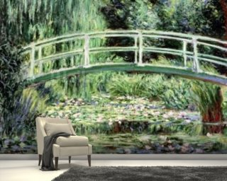 White Waterlilies, 1899 (oil on canvas) wall mural