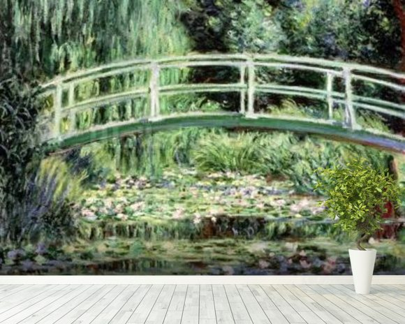 White Waterlilies, 1899 (oil on canvas) wall mural room setting