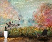 The Boat Studio on the Seine, 1875 (oil on canvas) wall mural kitchen preview